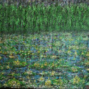 Waterlelie's en bos